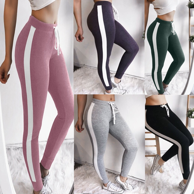 2019 New Women Workout Pants Skinny Slim Fitness Leggings Clothes High Waist Printing Cotton Leggings