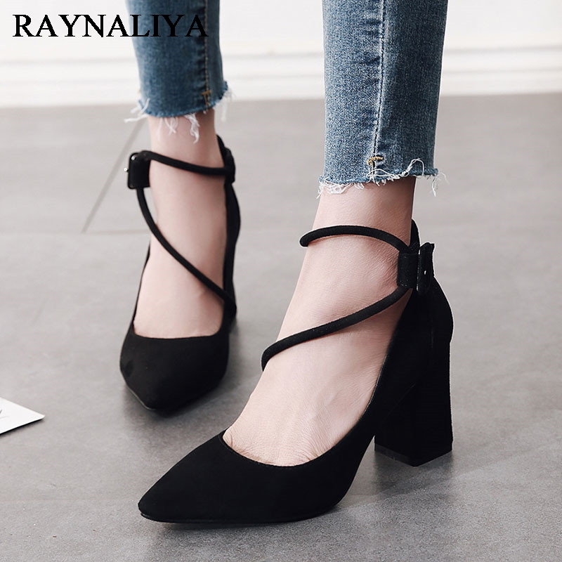 Women Pumps Elegant Office Heel Wedding Shoes Woman Casual Spring Comfortable Ladies Shoes Female Footwear CH-A0077
