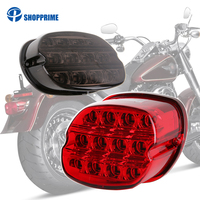 Motorcycle Led Brake Tail Light For Harley Dyna Fat Boy FLSTF Night Train Touring Softail Sportster Road King Electra Road Glide