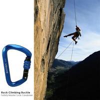 28KN Profesyonel D Şekil Güvenlik Ana Kilit Karabina Kaya Tırmanışı Toka Ekipmanları 4 Renkler Açık Aksesuarları|Tırmanma Aksesuarları|Spor ve Eğlence -