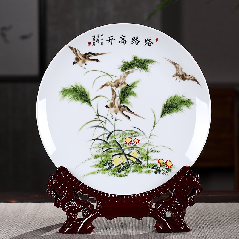 horse success ceramic hanging plate decoration home furnishings decoration wine cabinet office living room crafts