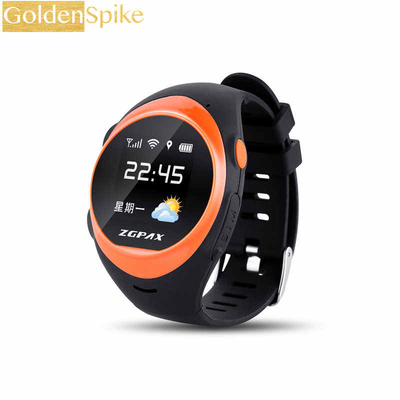 1.2 Inch Android IOS Smart Watch Phone S888 Bluetooth SIM GSM WIFI+LBS+SOS+GPS Real Time Positioning Tracker For Old Man & Woman