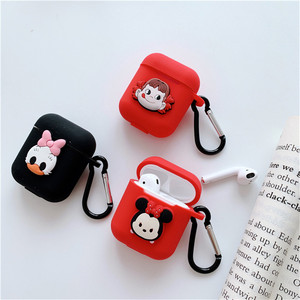 Image 3 - Cartoon animal Mickey Hello Kitty For apple airpods case Wireless Bluetooth Headset For airpods 1/2 Charging Silicone Soft Case