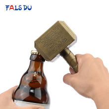 Silver Gold Beer Bottle Openers Hammer Of Thor Shaped Multifunction Wine Long Handle Beer Bottle Opener Kitchen Bar Tool 100pcs 3colors key shaped bottle openers beer wine bottle opener keychain ring open bar wedding party decoration label hemp rope