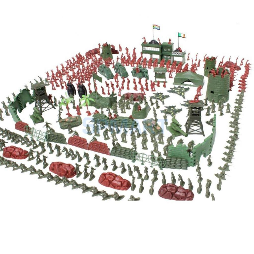 500pcs Plastic Military Playset 5cm Soldier Figures with Assorted Army Accessories Model Toys For Children Boys 500pcs her108 do 41