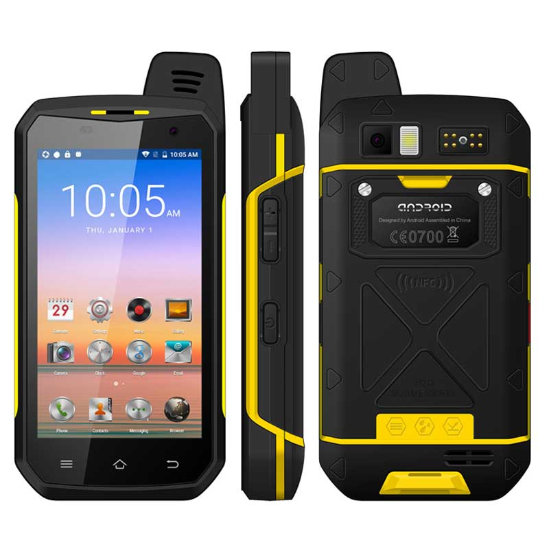 4G LTE Zello PTT Walkie Talkie B6000 Android6.0 5000mAh IP68 Waterproof NFC Mobile Phone Support  Wireless GPS WIFI SOS Function