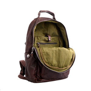 Image 3 - AETOO Cowhide mens doubles shoulder bag retro trendy head layer leather backpack