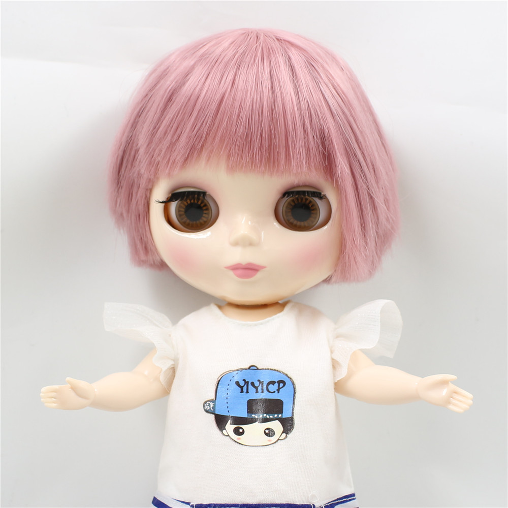 Neo Blythe Plump Doll with Pink Hair, White Skin, Shiny Face & Fat Body 3