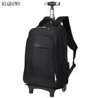 KLQDZMS Men Backpacks Business luggage suitcase on wheels Women Oxford Travel trolley Luggage bags Travel trolley Rolling bags