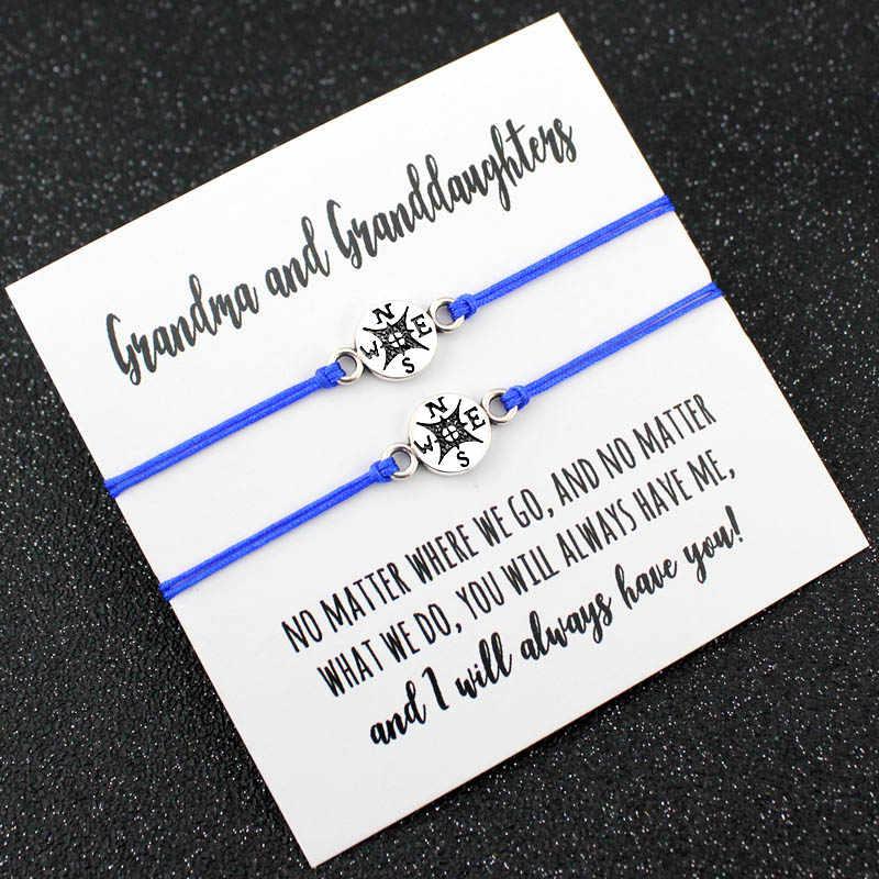 Тётя, племяшка, мать, дочери, бабушка, дочь, любовь, друзья, подарок на День Благодарения, загадайте желание, мечта, браслеты с компасом для женщин