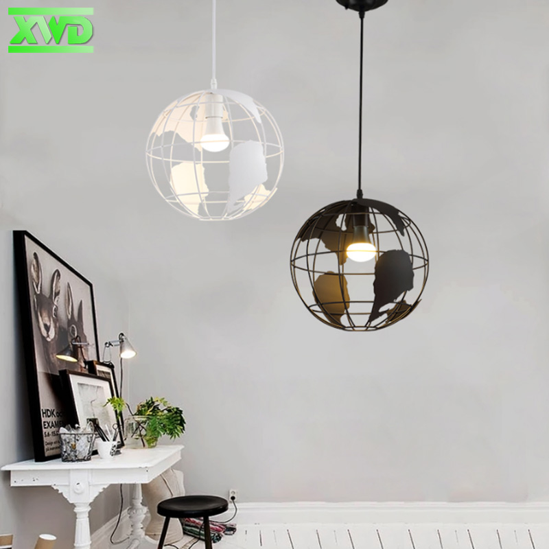 Vintage Globe Shape Indoor Pendant Lamp Coffee House/Dining Hall/Club/Foyer/Shop/Bar E27 Lamp Holder 110-240V Free Shipping edison vintage style e27 copper screw rotary switch lamp holder cafe bar coffee shop store hall club