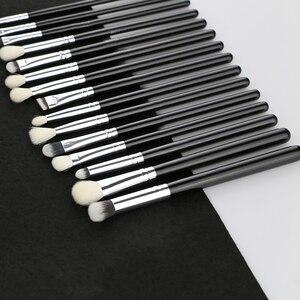 Image 5 - BEILI Black профессиональная кисть из козьего волоса без логотипа, пудра, контурный консилер, растушевка глаз, 25 шт., набор кистей для макияжа