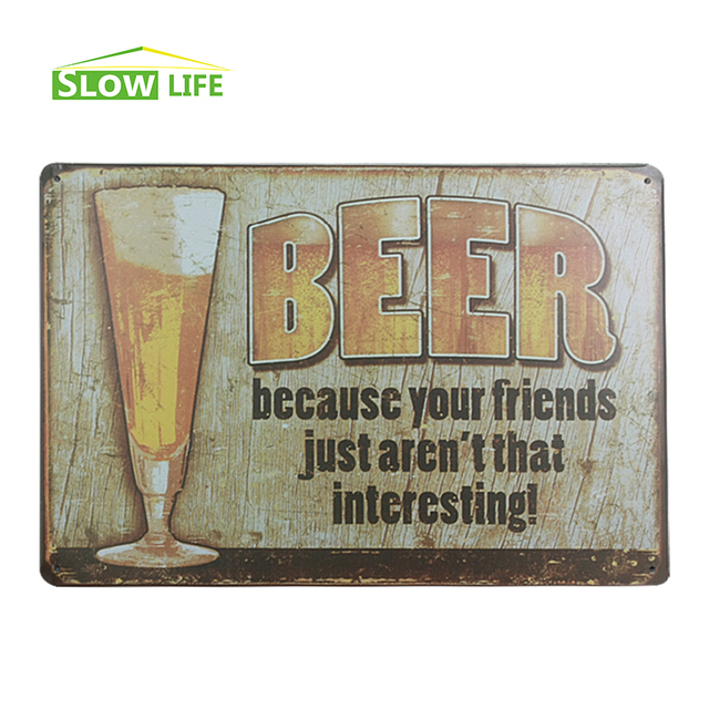 beer and your friends home bar vintage metal signs home decor vintage tin signs pub vintage
