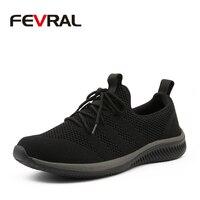 FEVRAL мужская повседневная обувь Известные удобные кроссовки 2019 лето осень кроссовки мужские легкая дышащая обувь размер 39-45
