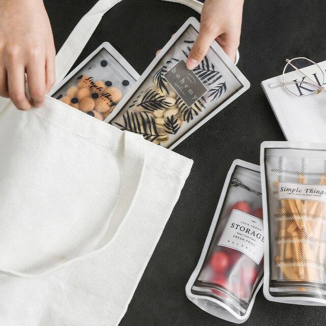 Sachet zip-lock réutilisable portatif de sacs de nourriture pour préserver et cuire le Sandwich Sous Vide joint liquide de Fruit de casse-croûte 11*19 CM 1