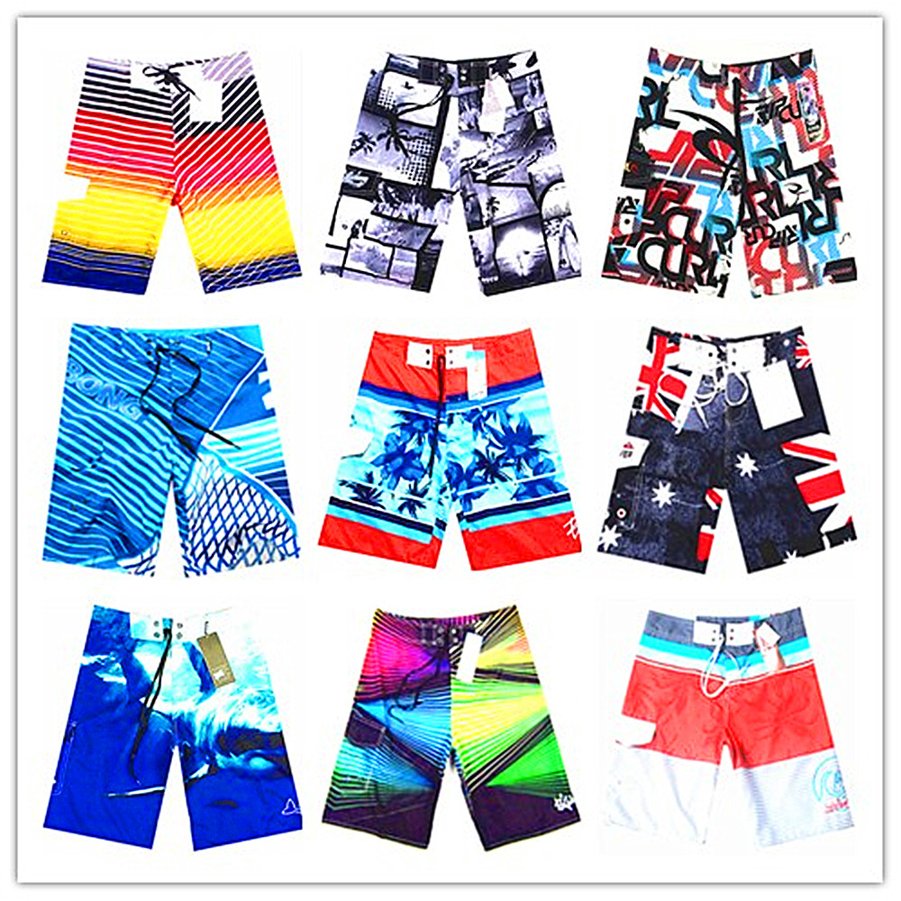 2018 Brand Fashion   Board     Shorts   Men 100% Quick Dry Sexy Men's Boardshorts Bermuda Gay Male Swimwear Beach   Shorts   Plus Size S-XXL