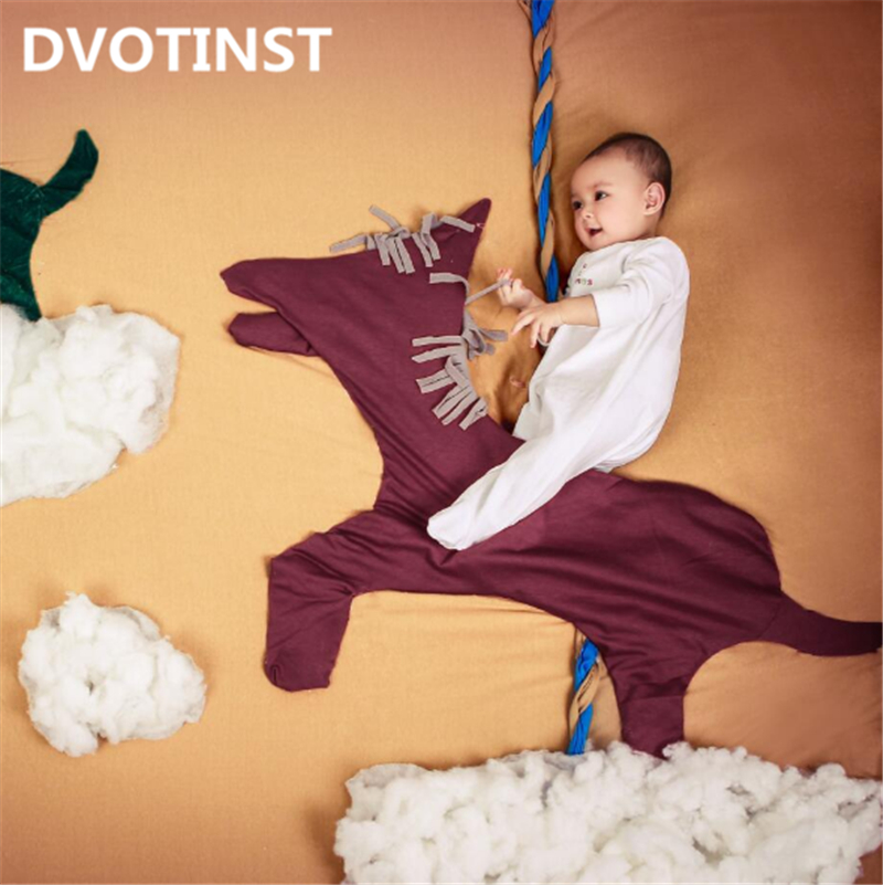 Dvotinst Newborn Baby Photography Props Riding Horse Theme Background Set Fotografia Accessory Studio Shooting Photo Props shengyongbao 300cm 200cm vinyl custom photography backdrops brick wall theme photo studio props photography background brw 12