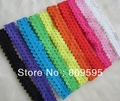 Free shipping , Wholesale 65pcs/lot 12colors Elastic Baby Lace headband Hair accessories