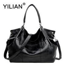 YILIAN Casual Handbags for Woman 2018 New Totes Bag Western Style Red Pink PU Leather Shoulder Office Ladies Bags 82517