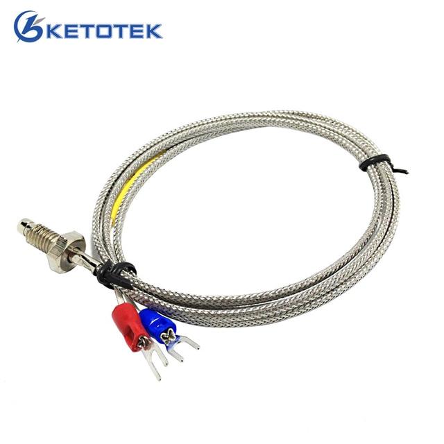 1 m Tópico Spade Terminais de parafuso do cabo Termopar tipo K termopar tamanho M6 * 1
