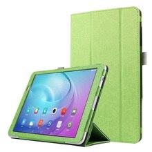 PU cubierta de Cuero Para Huawei MediaPad Yougth T2 Pro 10 pulgadas Tablet PC Funda protectora Para Huawei M2 FDR-A01W FDR-A03L + pluma