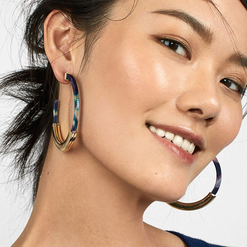 Fashion Bohemia Acrylic Acetate Hoop Earrings 1