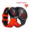 2017 xiaomi amazfit huami smart watch 1.34 polegada resolução 320x300 suporte a bluetooth monitor de freqüência cardíaca gps wifi ip67 à prova d' água