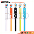 REMAX 2 in 1 8pin+Micro USB Cable Fast Charging Data Sync Charger Cables For iPhone 5s/6/6 Plus iPad Air/Min Samsung Xiao mi HTC