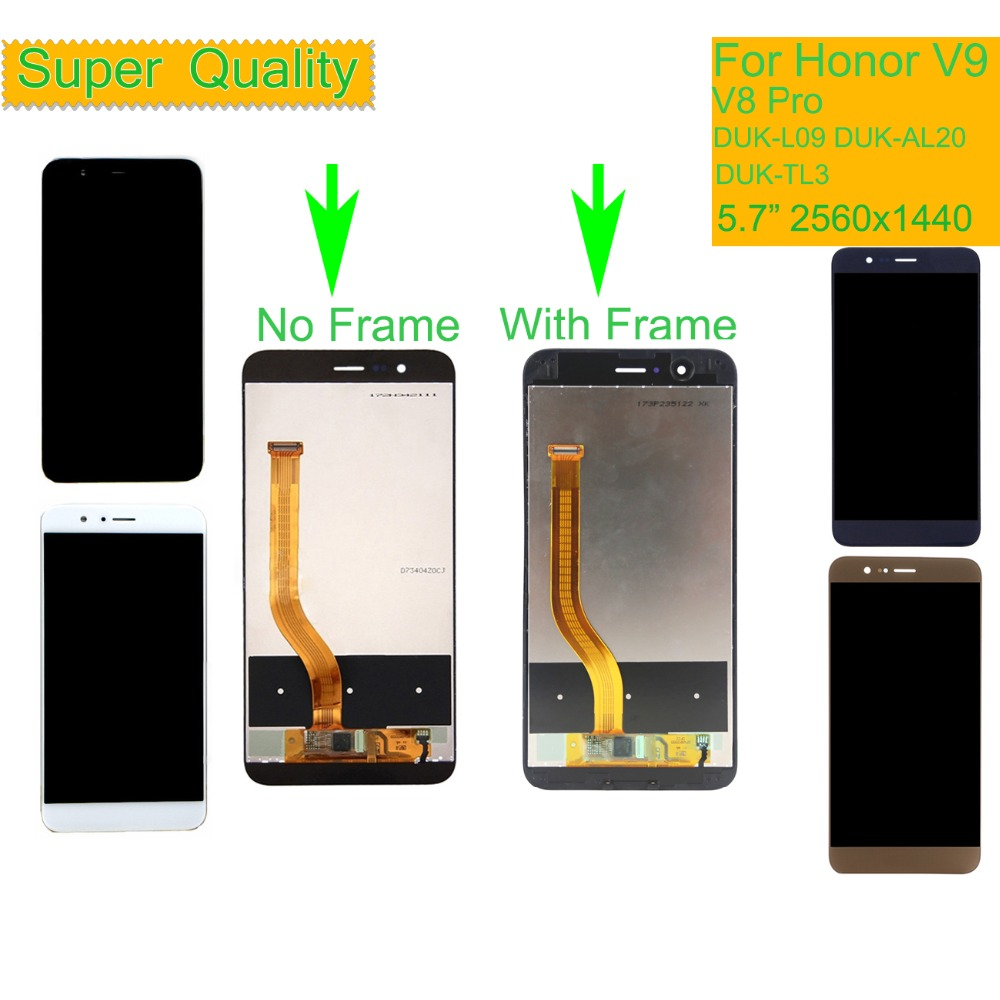 ORIGINAL LCD For <font><b>HUAWEI</b></font> <font><b>Honor</b></font> V9 LCD <font><b>Display</b></font> Touch Screen Digitizer with Frame For <font><b>Honor</b></font> <font><b>8</b></font> Pro DUK-L09 DUK-AL20 DUK-TL3 LCD image