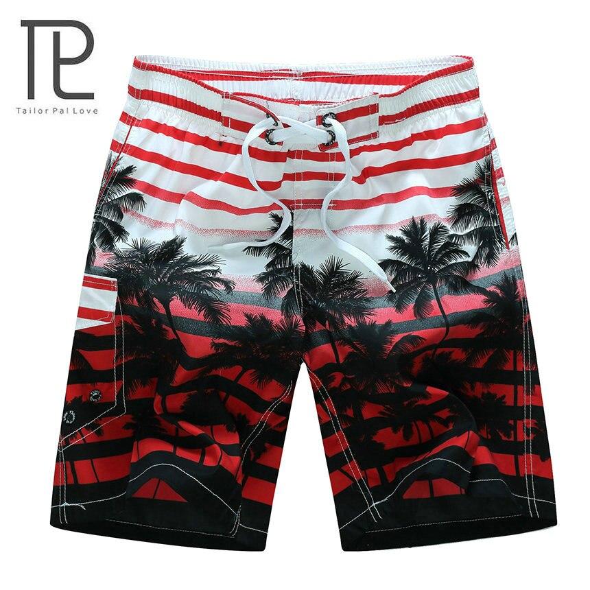 Sarto pal amore 2017 nuova estate calda degli uomini pantaloncini da spiaggia quick dry coconut tree stampato elastico in vita 4 colori M-6XL AYG219
