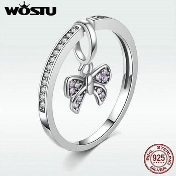 Real 925 Sterling Silver DIY Design Butterfly Ring For Women Alterable Change To Pendant Jewelry S925 Luxury Interesting Gift mariposa en plata anillo