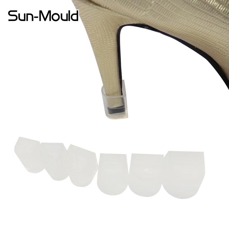 NEW 7 izmēra augstas Stiletto papēža aizsargi, latīņu kurpju papēža komplekts, apturēt kurpes bloķētas antislipu 7pairs / lot free Dropping