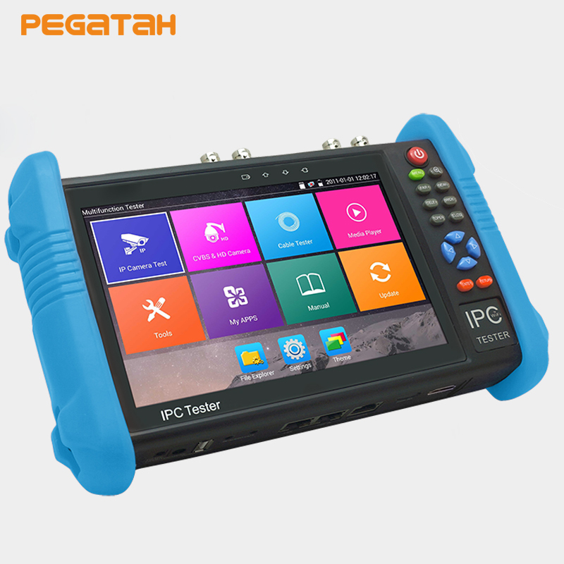 7 inch H.265/ H.264 4K IP Camera and Analog Tester 5M TVI 4MP AHD CVI CCTV Tester Monitor RJ45 Cable Test HDMI Input hq hdmi v1 3 7 5m hqss5550 7 5