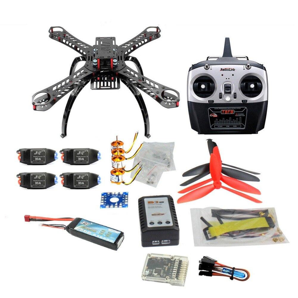 QQ SUPER Multi rotor Flight Control DIY 310mm Fiberglass Multicopter Kit Radiolink T8FB 8CH Transmitter 1400KV Motor 30A ESC