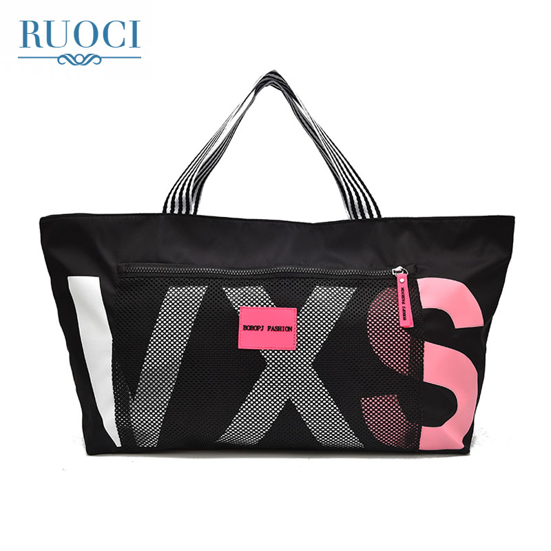 RUOCI 2018 Ladies Travel Bag Large Capacity Hand Luggage Travel Duffle Bags Portable Female Handbag Weekend Waterproof Nylon Bag