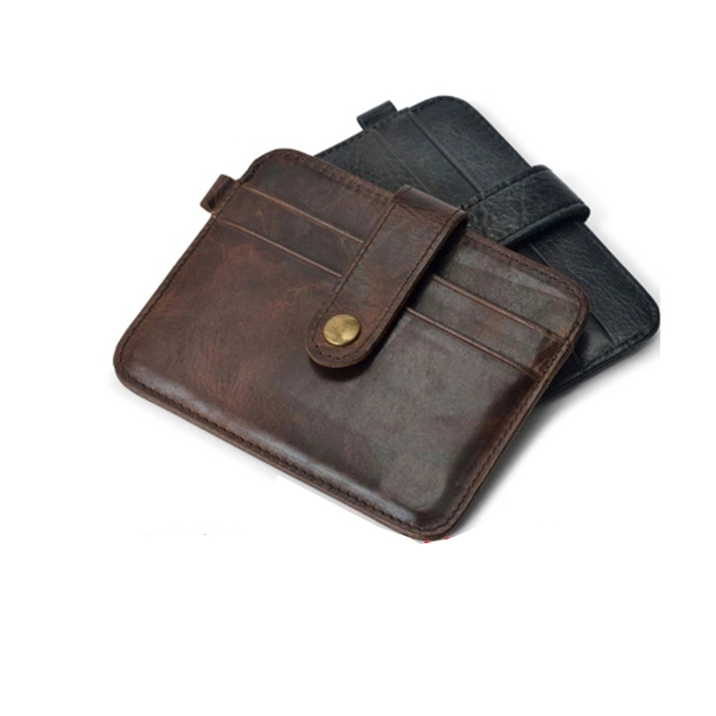 Leder Portemonnee Heren.Mini Portefeuilles Hasp Kleine Portemonnee 100 Echt Lederen