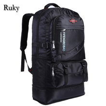 2016 Large Capacity 60L adjustable Waterproof Nylon Women&Men New Fashion Travel Backpack Teenagers Laptop bag Student Schoolbag