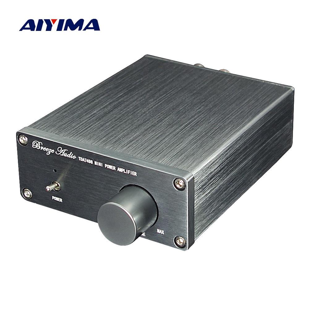 AIYIMA TDA7498E デジタルアンプ 160 ワット * 2 ステレオ高電力オーディオアンプ 2.0 Amplificador 低歪みホームシアター  グループ上の 家電製品 からの アンプ の中 1