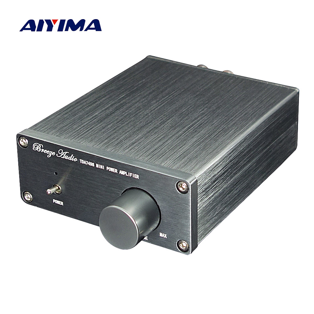 AIYIMA TDA7498E Digital Amplifier 160W*2 Stereo High Power Audio Amplifier 2.0 Amplificador  Low Distortion Home Theater