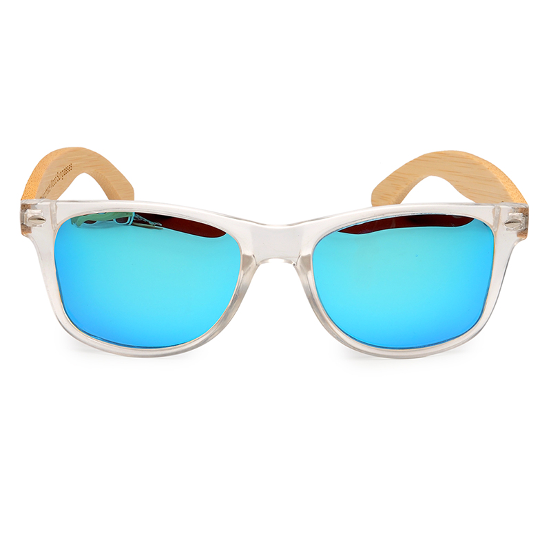 Clear Color Polarized Wood Bamboo Sunglasses For Women. 24