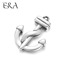 Stainless Steel Anchor Charms DIY Accessories Necklace Pendant Bracelet Hooks Findings Jewelry Making Supplies Parts Wholesale