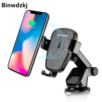 10W Fast Wireless Car Charger Car Mount Phone Holder Stand for Samsung S9/S9+/S8/S8+/S7 Edge Standard Charger for iPhone 8/8+/X
