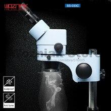 Лампа для микроскопа, кольцевой источник света, белый источник света, переключатель света, 110 220 В