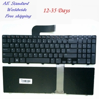 US Black 100 New English Laptop Keyboard For DELL For Inspiron N5110 15R Ins15RD 2528 2728