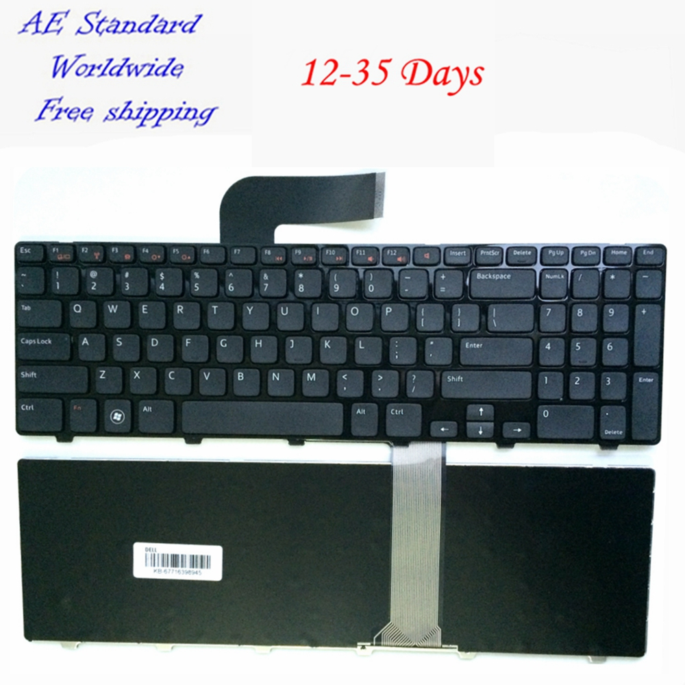 US laptop keyboard For DELL For Inspiron N5110 15R Ins15RD-2528 2728 2428 Black New English 100% new jintai dc power jack port vga usb board for dell inspiron 15r n5110 vostro v3550 pfyc8