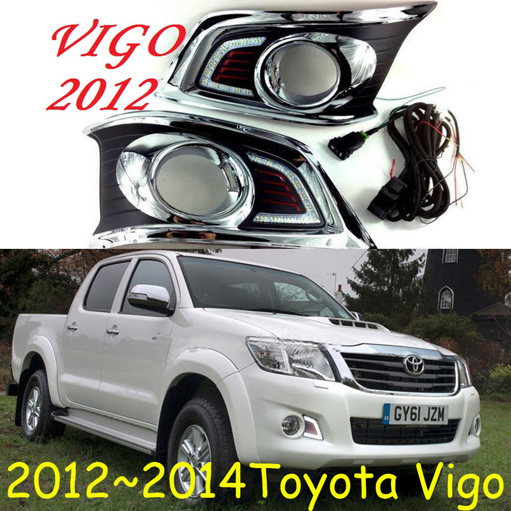 LED car drl Daytime Running Lights accessories For HILUX VIGO CHAMP 2012 2013 2014;2015~2017 VIG0 fog lamp projector lens car styling front lamp for t oyota for tuner 2012 2013 daytime running lights drl
