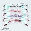 8501 da mulher metade aro óculos de miopia hipermetropia óculos armações prescrição eyewear