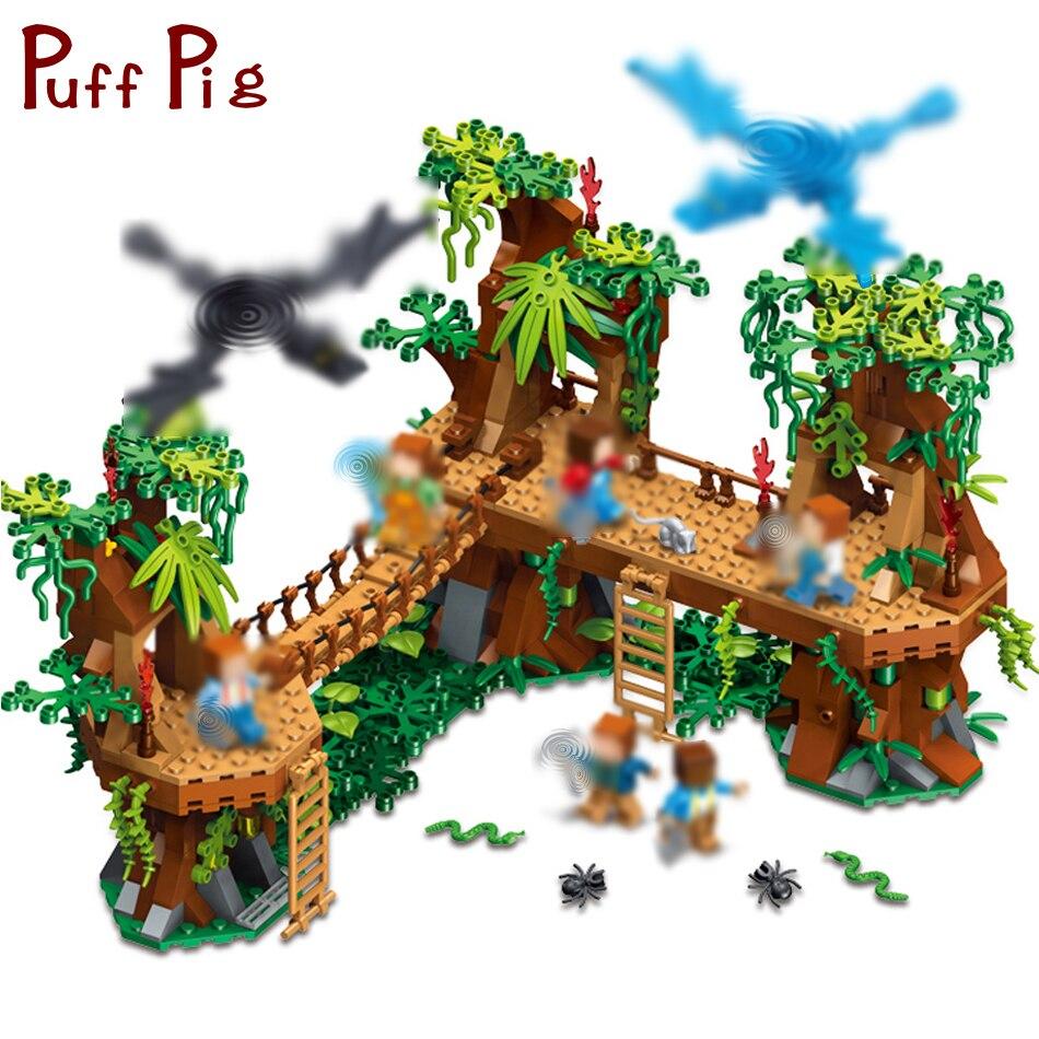 686 pièces Mine Juguetes Jouet mon monde Minecrafted forêt modèle blocs de construction ensemble brique Action Figure jouets cadeau pour enfants