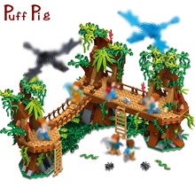 686PCS Mine Compatible Legoe MY WORLD Minecrafted Forest Model Building Blocks Set Brick Action Figure Toys Gift For Children(China)