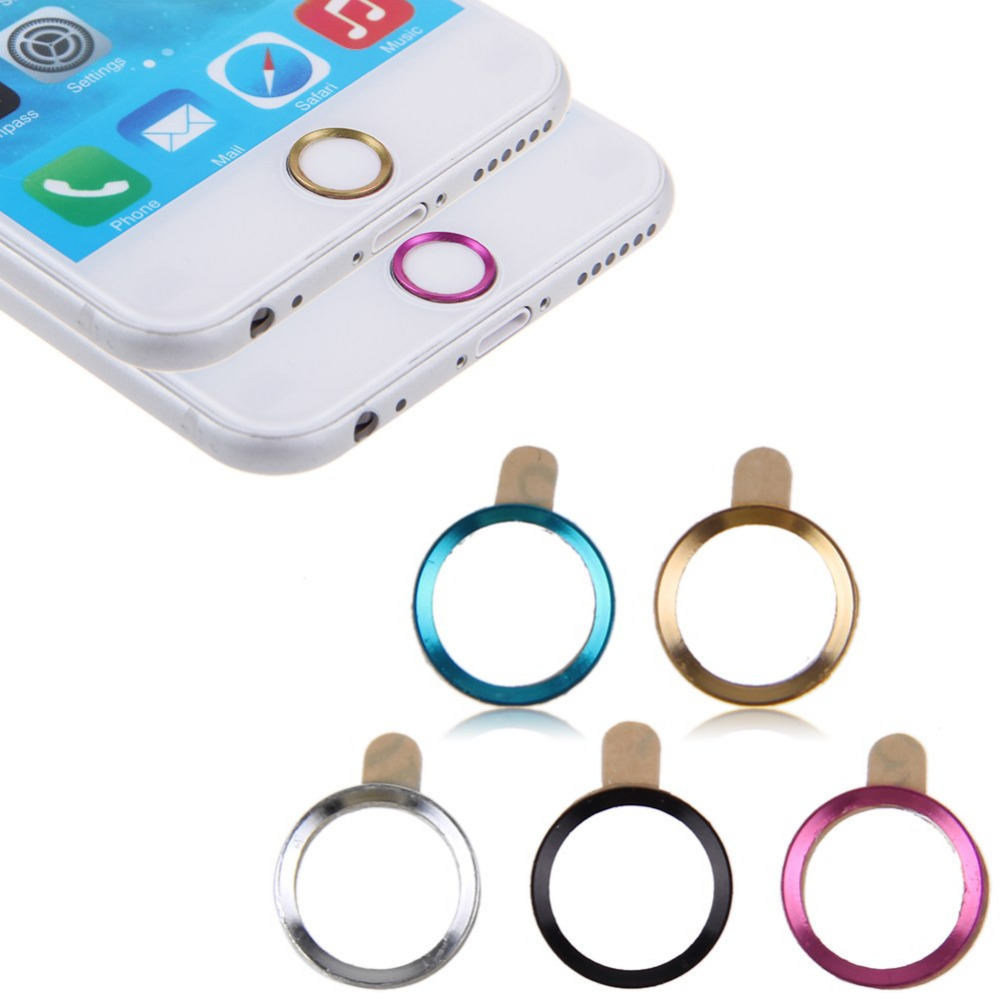Good Iphone 6 Home Button Design Part - 5: 5x Aluminium Home Button Circle Ring Stickers Cover Sticker For IPhone 6  Mix Colors In Mobile